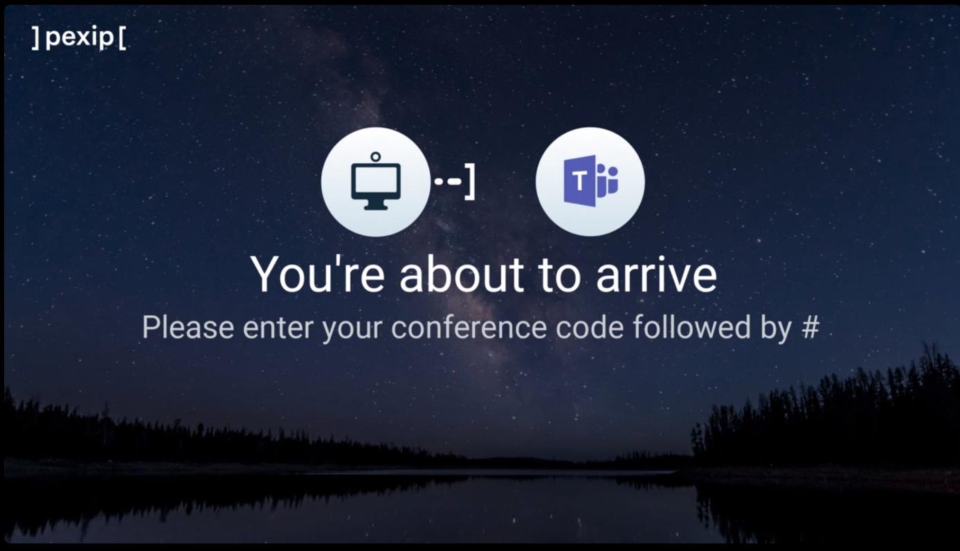 Participer à une réunion Teams - CVI Cloud Video Interop PEXIP